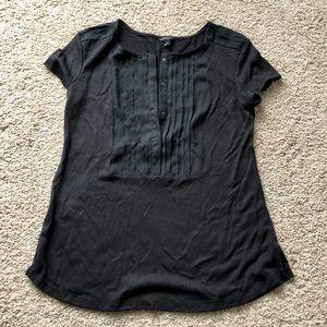 Ann Taylor satin pleated t-shirt